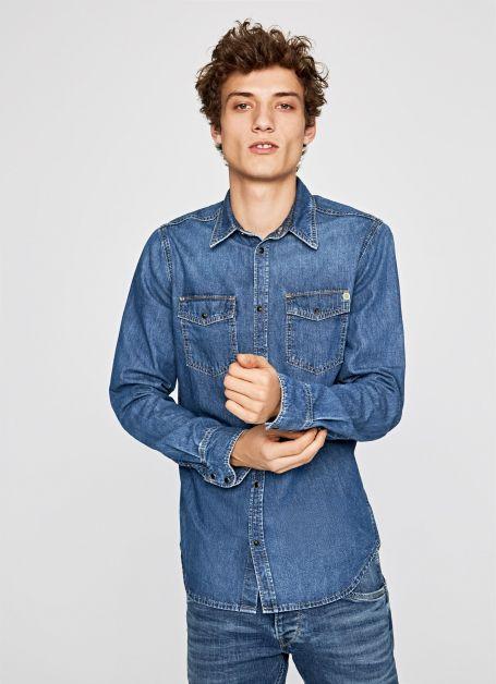 chemise denim pepe jeans