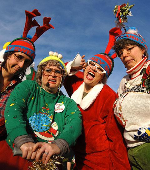 On y va : le concours du pire pull de Noël et une soirée extra