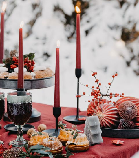 10 décorations de table express et DIY pour Noël