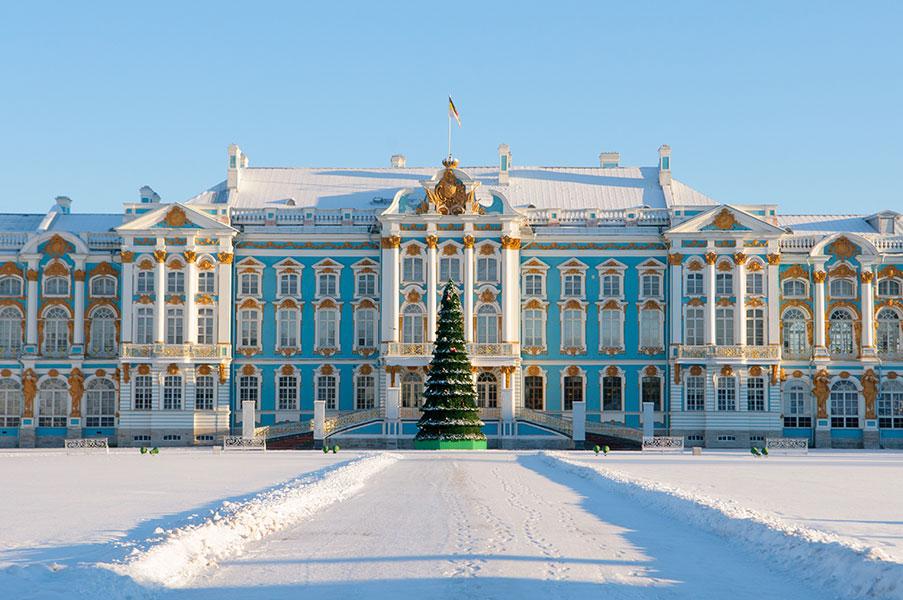 Le Palais d'été à Saint-Petersbourg.