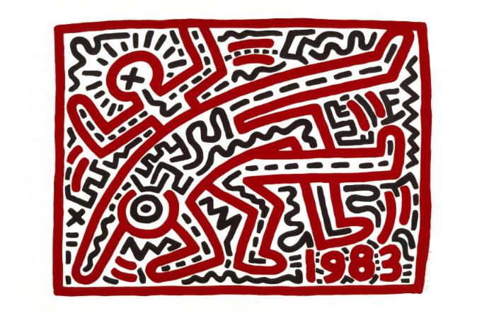 tableau de l'artiste Keith Haring