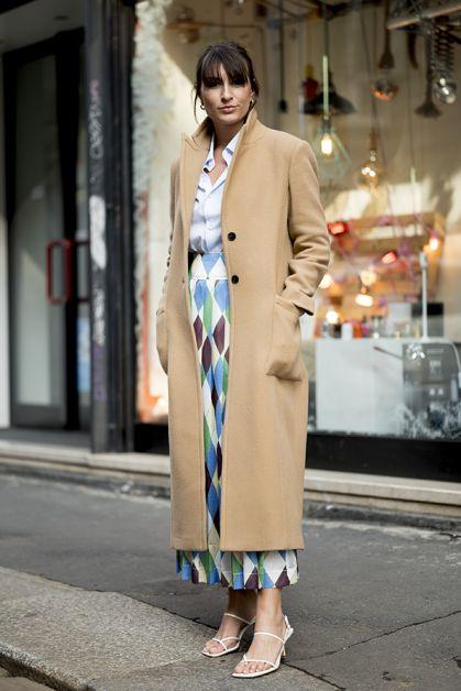 Long manteau beige