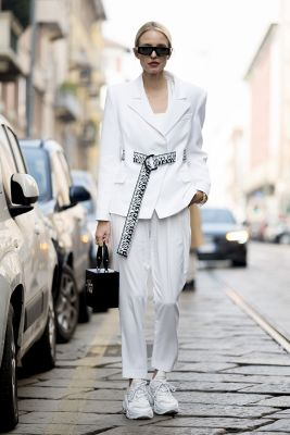 ensemble pantalon blanc