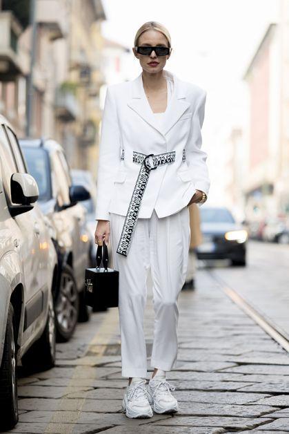 ensemble pantalon blanc