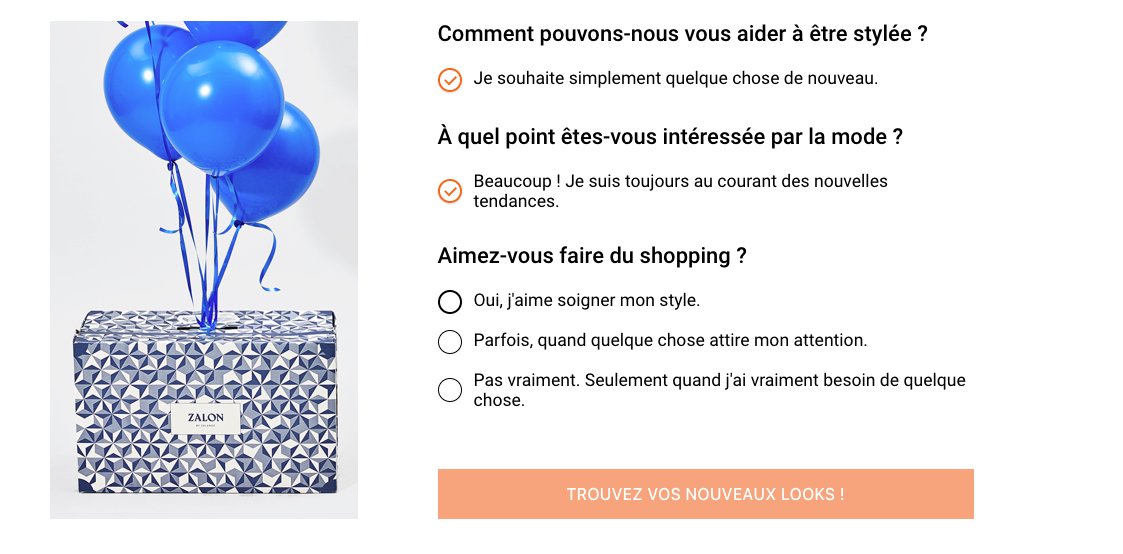 question personal shopping sur zalon