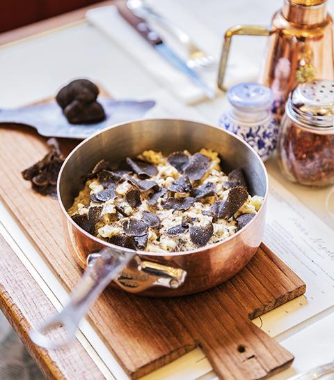 Les fameuses pâtes à la truffe de La Bellezza