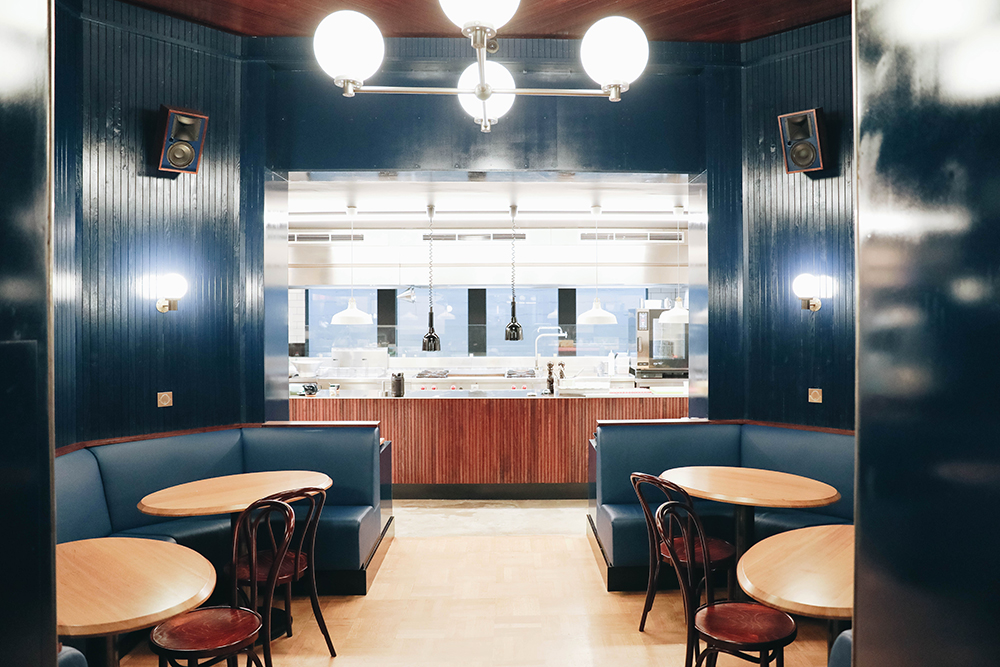 photo de la déco du restaurant Grizzly à Bruxelles