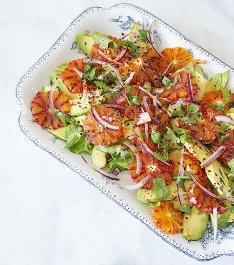 Salade légère d'avocat et d'orange sanguine