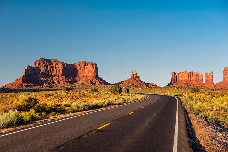 Paysage de la Monument Valley en Arizona aux Etats-Unis.