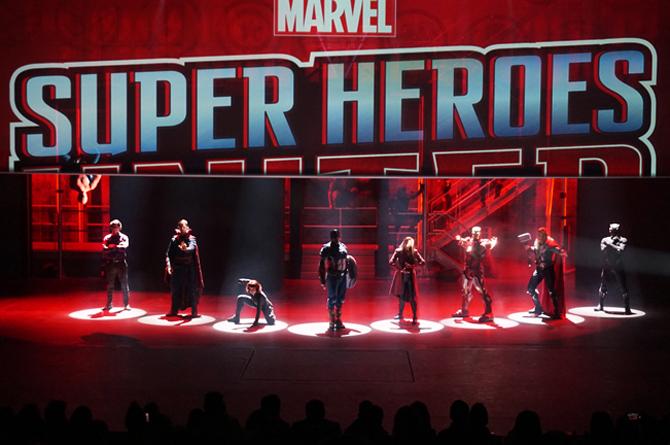 Photo du spectacle Marvel Super Heroes à Disneyland Paris.