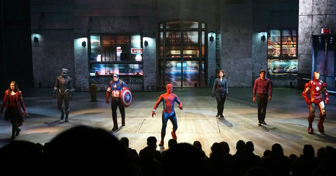 Image du spectacle Marvel sur les Super-Héros à Disneyland Paris.