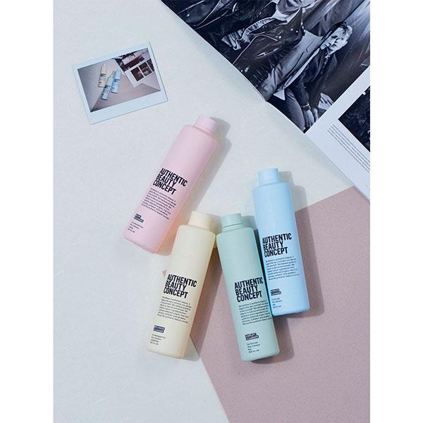 Photo montrant quatre produits de la marque ABC Authentic Beauty Concept.