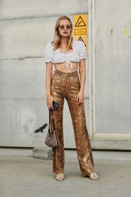bijoux coquillages look pantalon