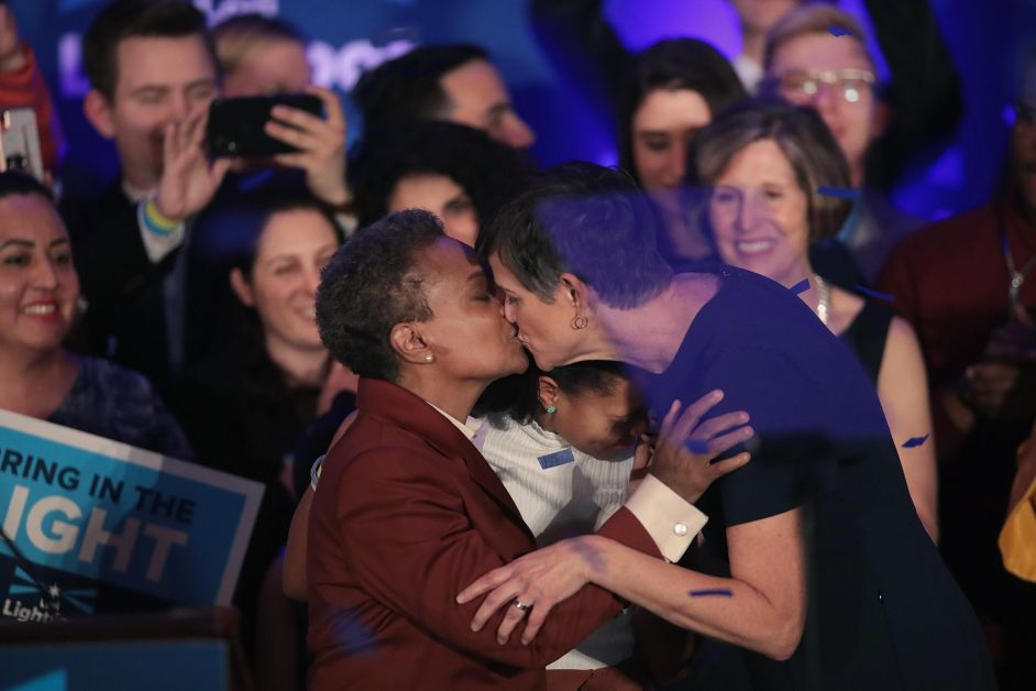 Victoire de Lori Lightfoot le 2 avril