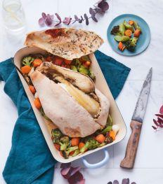 Comment faire un poulet en croûte de pain ?