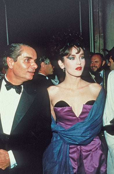 L'actrice Isabelle Adjani était l'invitée d'honneur du bal Poison donné en 1985.