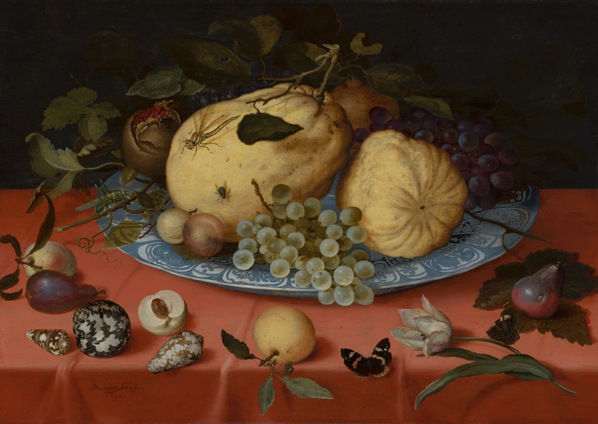 Balthasar Van Der Ast, Fruit Still Life with Shells and Tulip, 1620