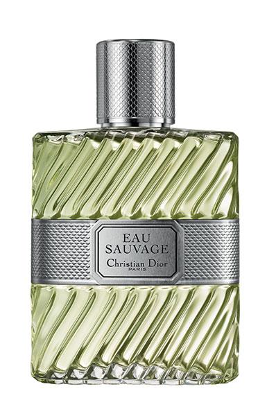 Flacon du parfums masculin Eau Sauvage de Christian Dior.
