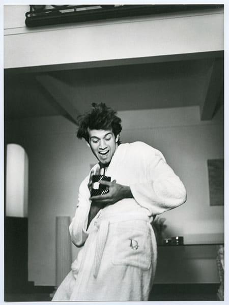 Photo vintage d'une campagne pour Eau Sauvage Extrême.
