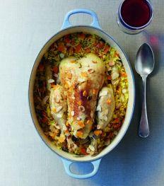 La recette comfort food: poulet aux amandes et riz safrané