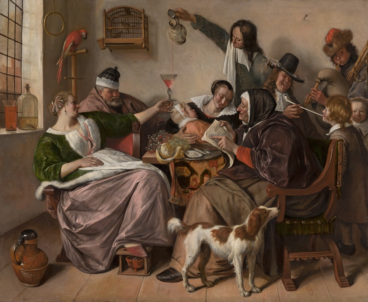 "Jan Steen ""As the Old sing, so Pipe the Young"" 1668-70"