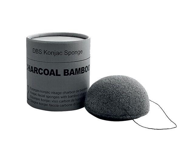 Eponge konjac au charbon.