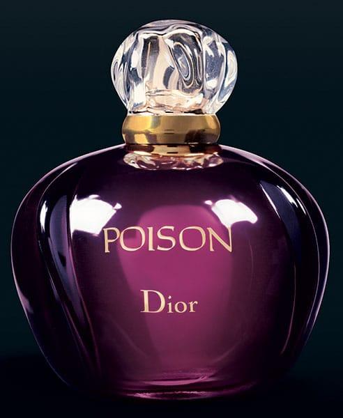 Flacon du célèbre parfum Poison de Dior.