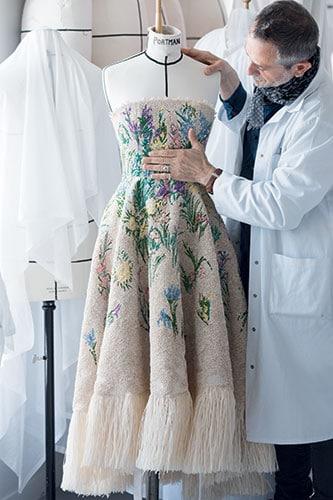 La robe Essence d'herbier de Dior.
