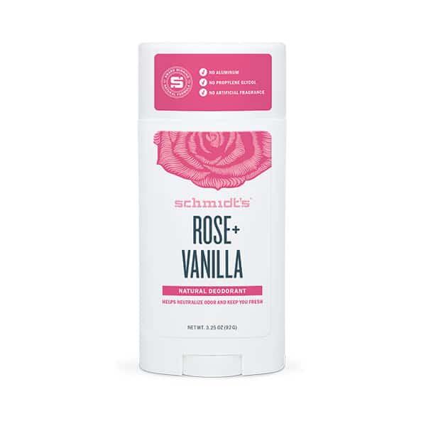 Déodorant naturel à la rose et la vanille.