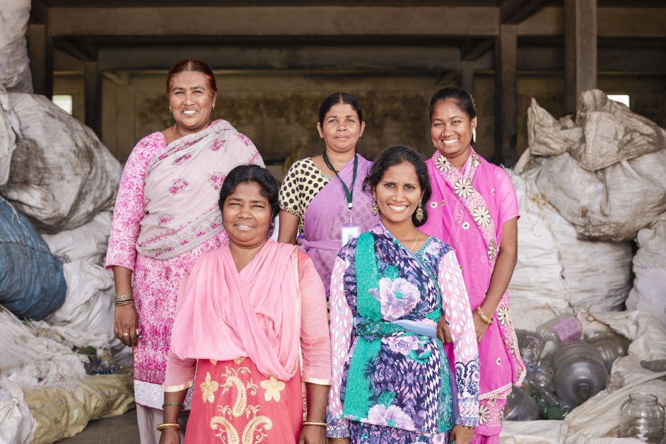 femmes indiennes collectrices déchets