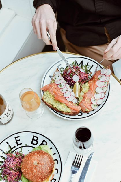 Photo des assiettes du bar La Famille à Ixelles