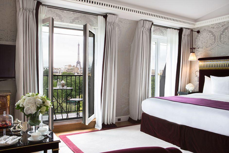 Photo d'une des 42 suites de la Réserve Paris
