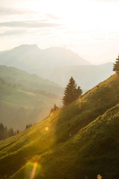 Photo de la montagne de Megève
