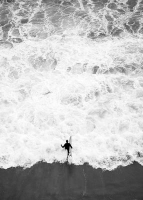 Running Into Ocean Affiche