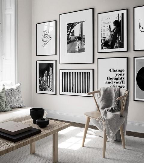 Comment réaliser un beau mur de cadres?