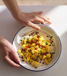 Choux-fleurs, sumac et sauce tahini
