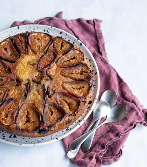 Gâteau moelleux aux figues fraiches