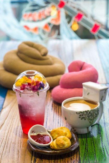 Le poop cafe est un café situé à Séoul sur le thème du caca