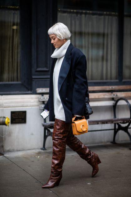 12 façons de porter le blazer oversized cet automne - 18