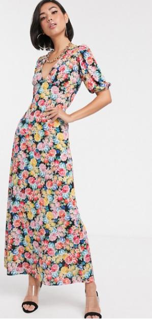 robe longue à fleurs Asos