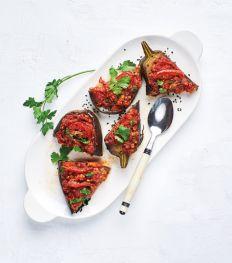 Aubergines farcies à la turque