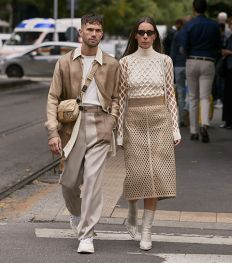 Le beige était la star de la fashion week de Milan