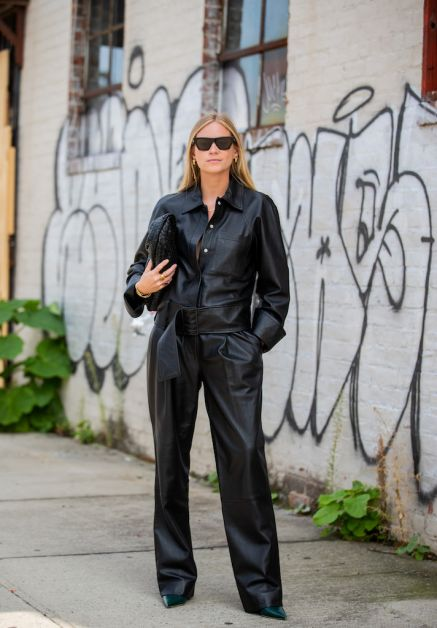 streetstyle new york combinaison cuir