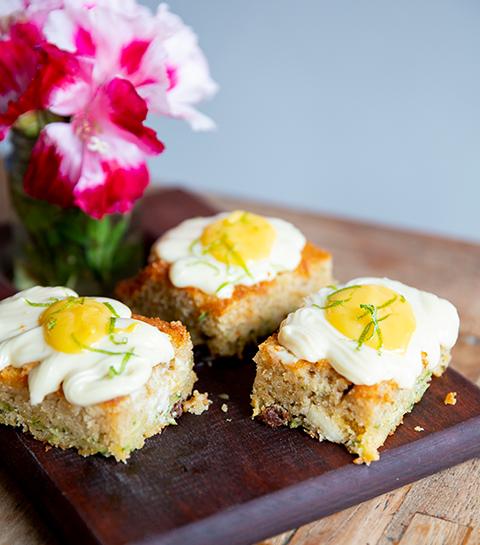 Cake courgette et lemon curd