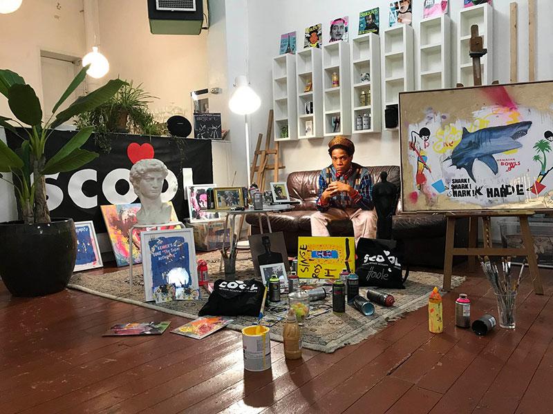L'artiste François Coorens ouvre les porte de son école/atelier pour We Art XL