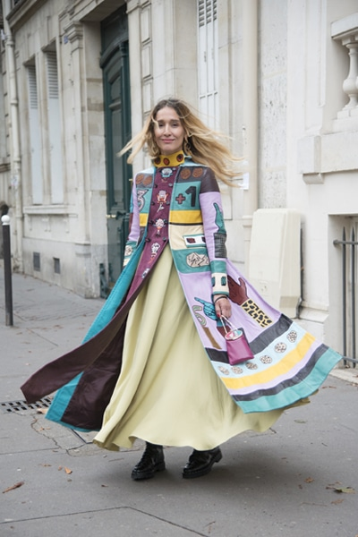 Tiany Kiriloff à la fashion Week de Paris