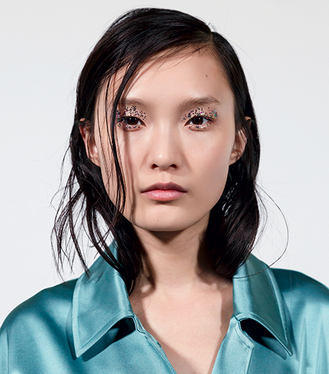 Maquillage vu sur le défilé Dries Van Noten.