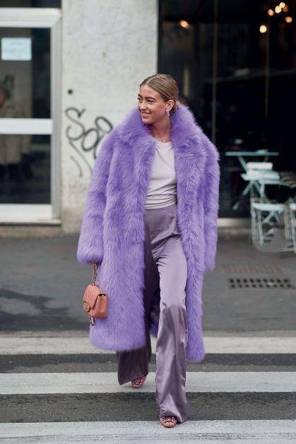 total look violet