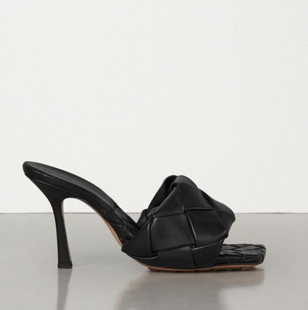 Sandales Lido Bottega veneta noires