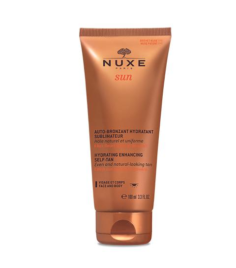 Soin auto bronzant visage et corps de Nuxe.